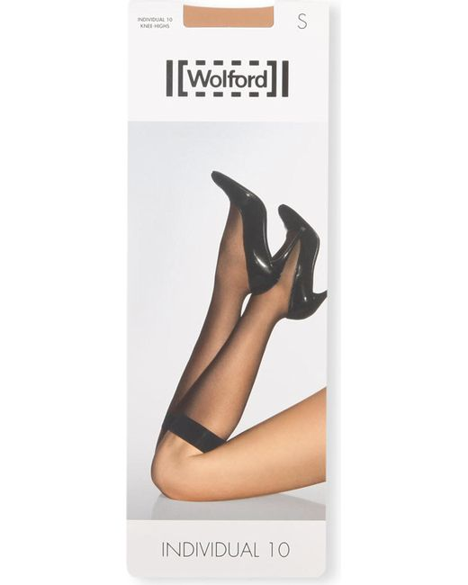 Wolford - Black Individual 10 Knee-highs - Lyst