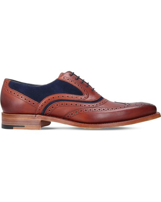 Barker - Multicolor Mcclean Leather And Suede Oxford Brogues for Men - Lyst