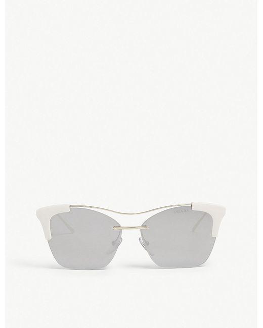 c91fb155d9d89 Prada Pr21us Butterfly Sunglasses in Metallic - Lyst