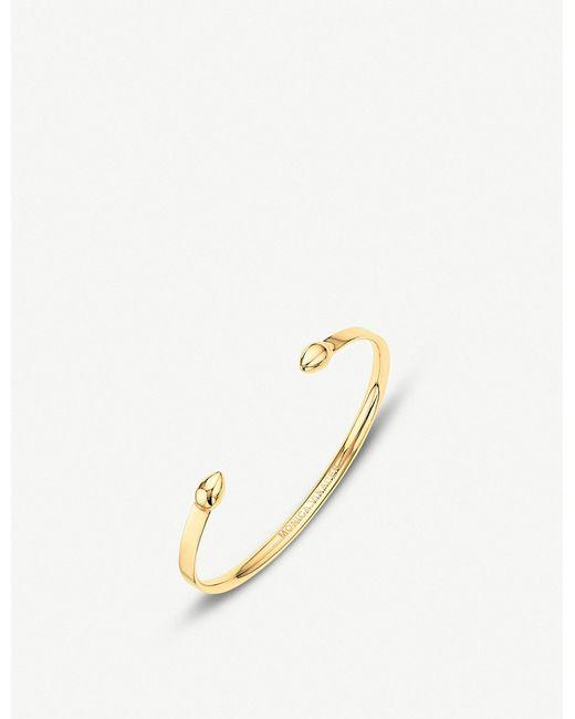 Monica Vinader - Metallic Fiji Cuff 18ct Gold Vermeil Bracelet - Lyst