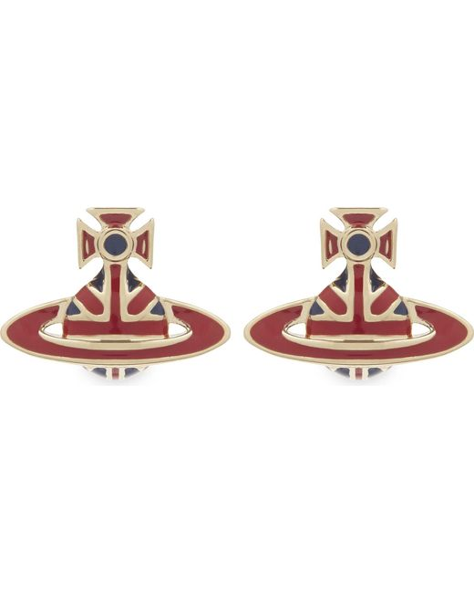 Vivienne Westwood - Red Jack Enamel Orb Stud Earrings - Lyst