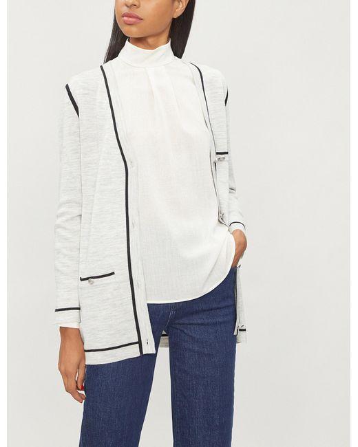 a9d2777d5c08 Lyst - Claudie Pierlot Maxi-long Wool-blend Cardigan in Gray