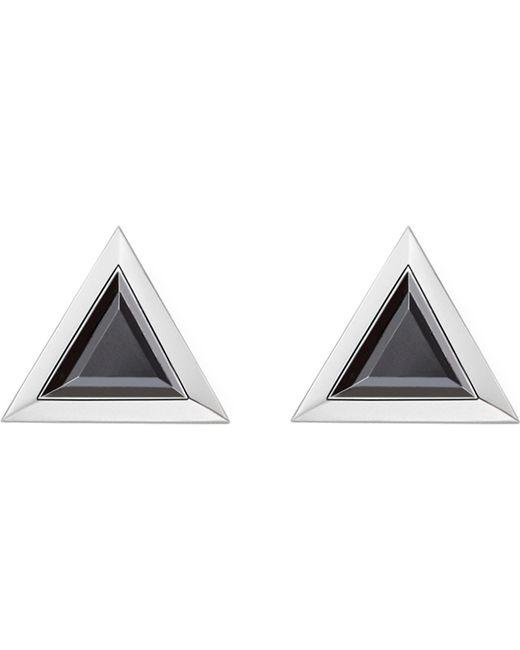 Thomas Sabo - Metallic Black Stone Triangle Sterling Silver Ear Studs - Lyst