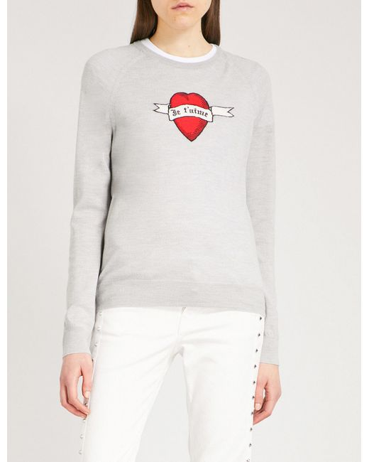 Zadig & Voltaire | Gray Rime Wool Jumper | Lyst