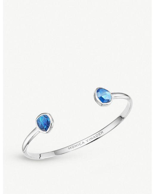 Monica Vinader - Blue Siren Kyanite-gemstone Silver Cuff - Lyst
