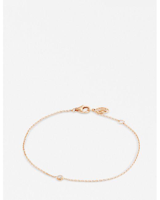 Cartier - Diamants Légers De 18ct Pink-gold And Diamond Bracelet - Lyst