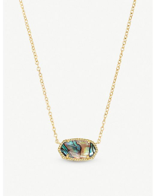Kendra Scott - Metallic 14ct Gold-plated Abalone Shell Necklace - Lyst