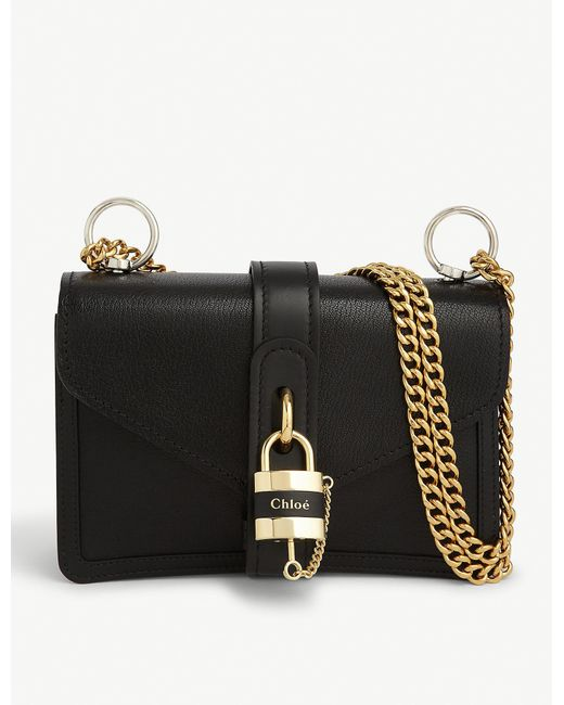 Chloé Black Aby Chain Leather Shoulder Bag