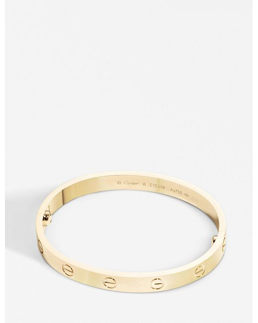 Cartier - Love 18ct Yellow-gold Bracelet - Lyst