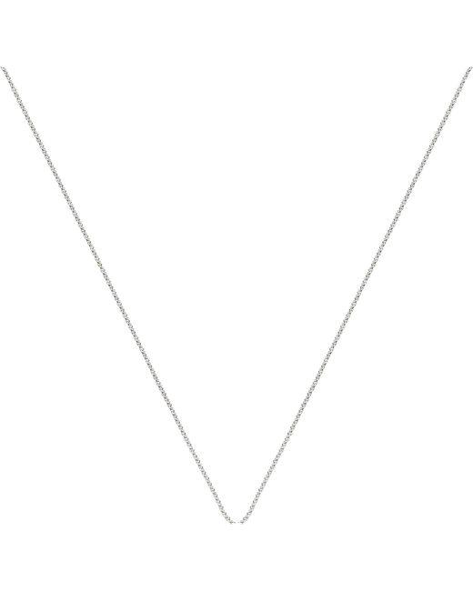 Monica Vinader - Metallic Rolo Adjustable Sterling Silver Chain - Lyst