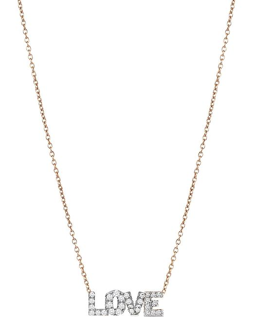 The Alkemistry | Metallic Love 14ct Rose Gold And Diamond Necklace | Lyst