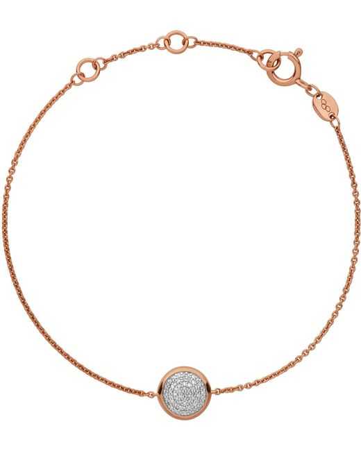 Links of London   Pink Diamond Essentials Pave Rose Gold Bracelet   Lyst