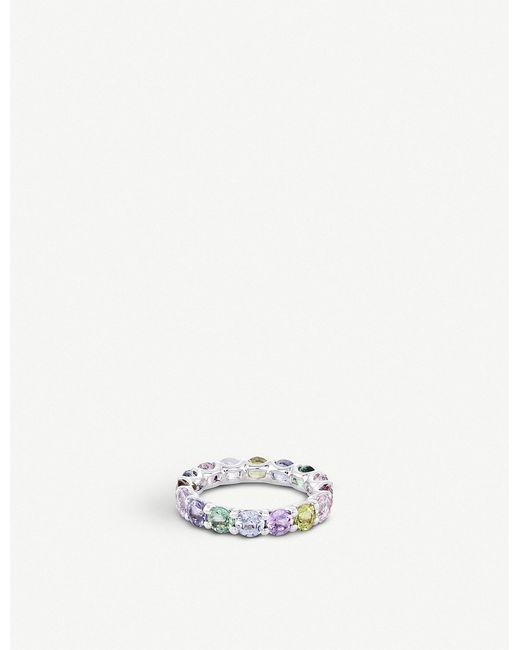 BUCHERER JEWELLERY - Metallic Pastello 18ct White-gold And Sapphire Ring - Lyst