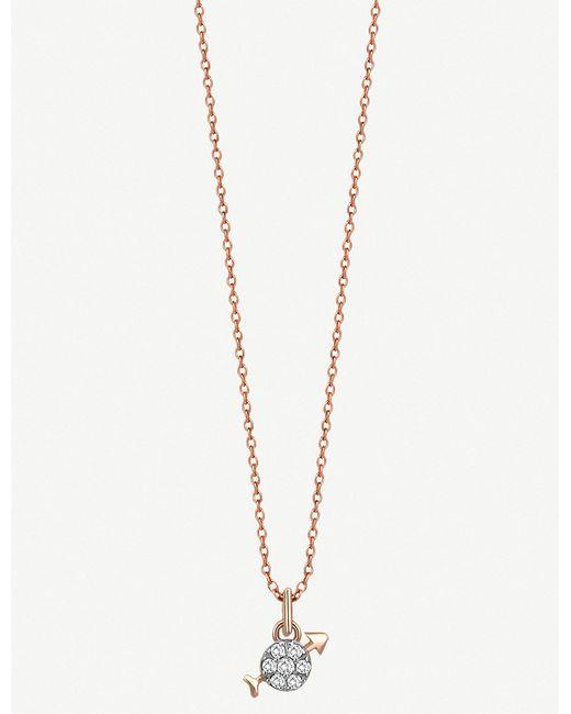 The Alkemistry - Metallic Kismet By Milka 14ct Rose-gold Sagitarius Necklace - Lyst