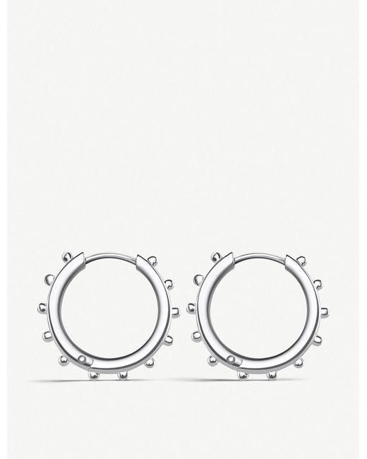 Thomas Sabo - Metallic Studded Sterling Silver Hoop Earrings - Lyst