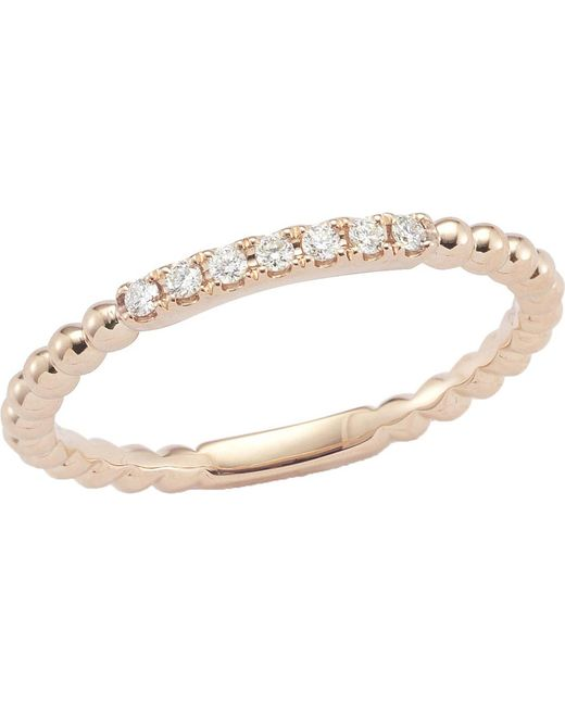 The Alkemistry - Metallic Diamond Band 14ct Rose-gold Ring - Lyst