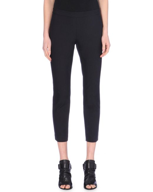 Theory - Black Slim-fit Cotton-blend Trousers - Lyst