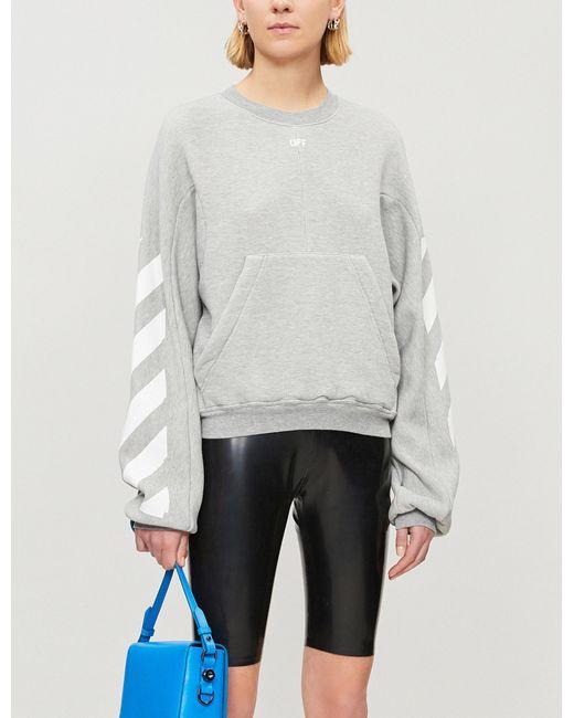 33804167f2c0 Lyst - Off-White C O Virgil Abloh Diagonal Stripes Sweatshirt in Gray