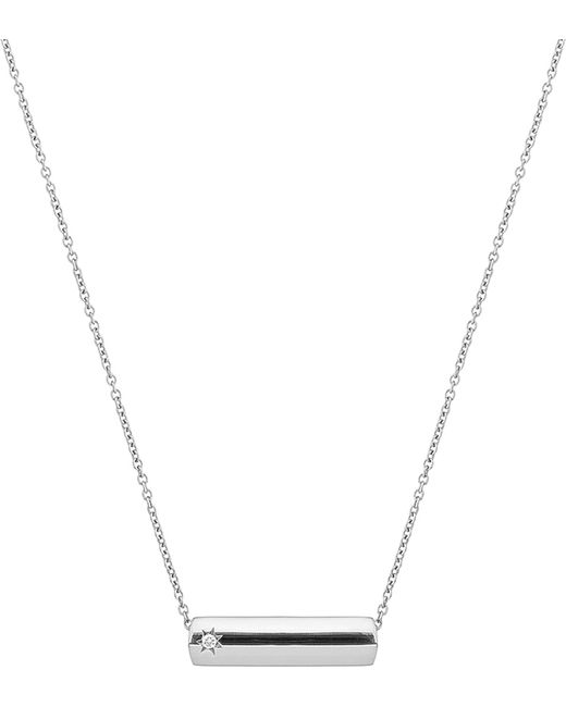 The Alkemistry | Metallic Star Bar 9ct White Gold And Diamond Necklace | Lyst
