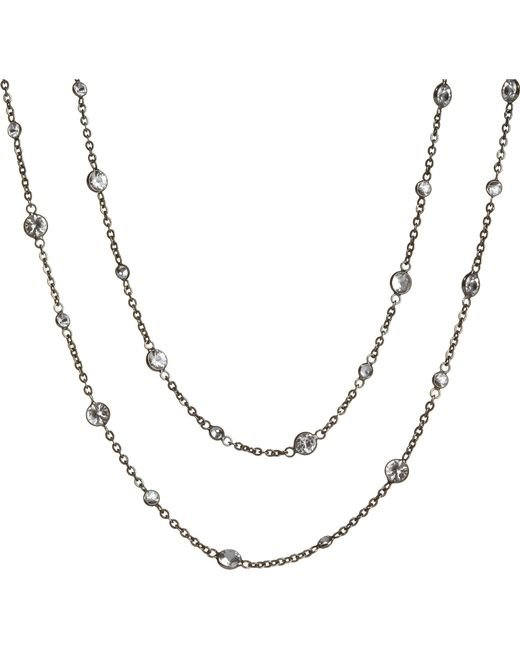Annoushka - Black Nectar Night Jasmine Rhodium-plated 18ct White-gold And Sapphire Necklace - For Women - Lyst