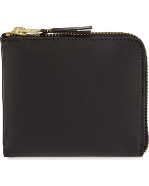 Comme des Garçons - Black Leather Half-zip Wallet - Lyst