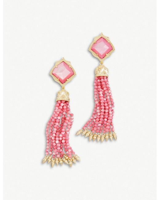 Kendra Scott - Pink Misha Statement Earrings - Lyst