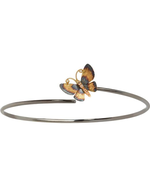 Annoushka - Metallic Butterfly 18ct Gold Bangle - Lyst