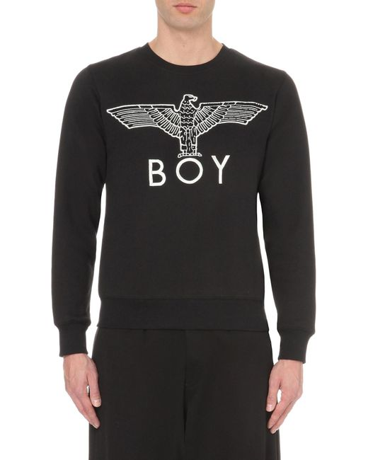 BOY London | Black Eagle Logo Cotton-jersey Sweatshirt for Men | Lyst