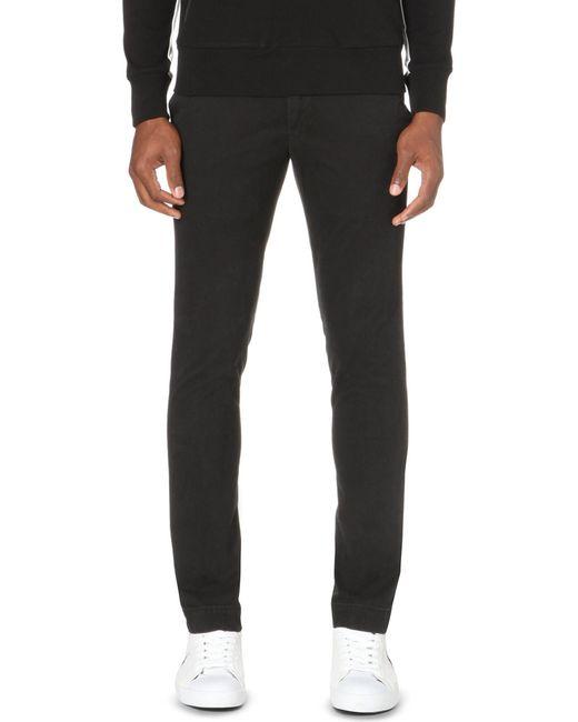 Polo Ralph Lauren   Black Hudson Slim-fit Stretch-cotton Chinos for Men   Lyst