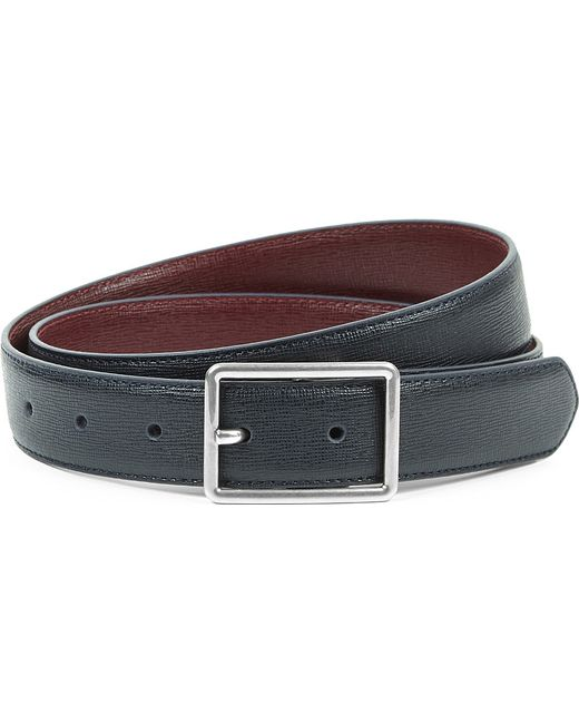 paul smith saffiano cut to fit leather belt in blue for