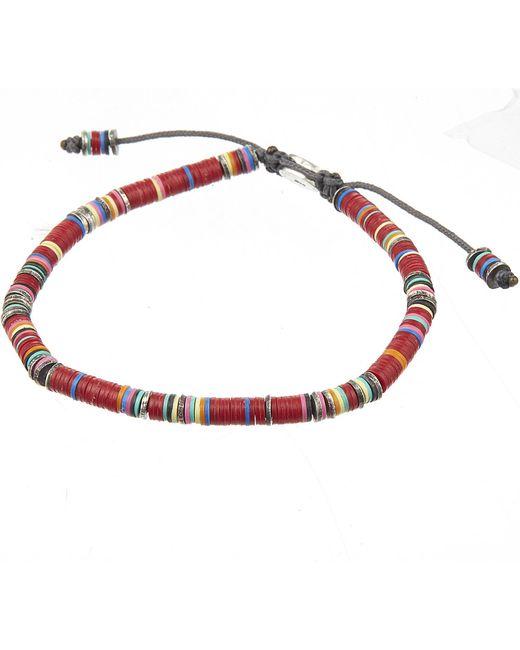 M. Cohen   Red African Vinyl Disc Bracelet   Lyst
