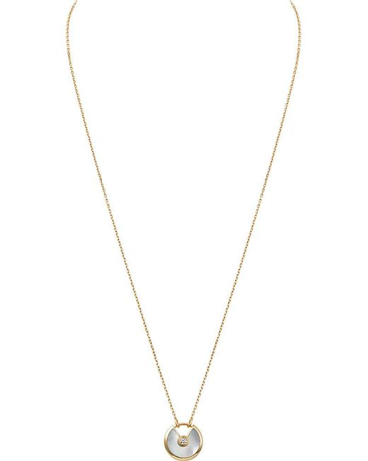 Cartier | Metallic Amulette De 18ct Yellow-gold And Diamond Necklace | Lyst