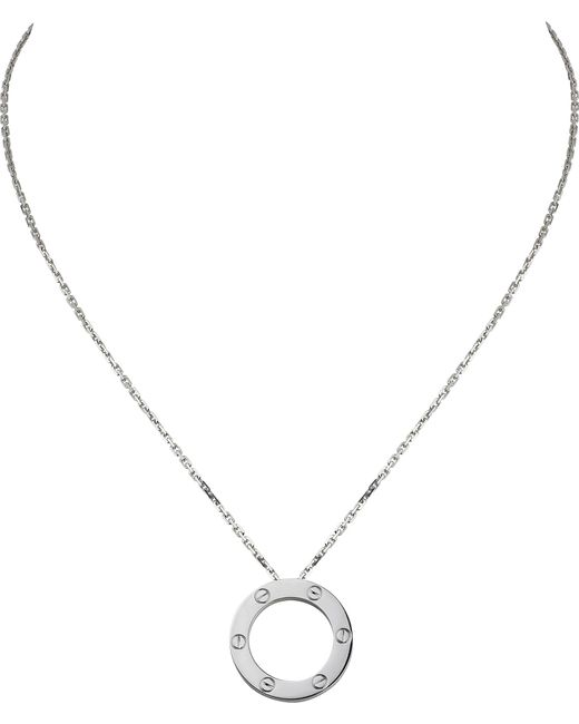 Cartier | Love 18ct White-gold Necklace | Lyst