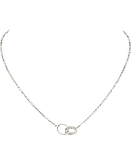 Cartier   Metallic Love 18ct White-gold Necklace   Lyst