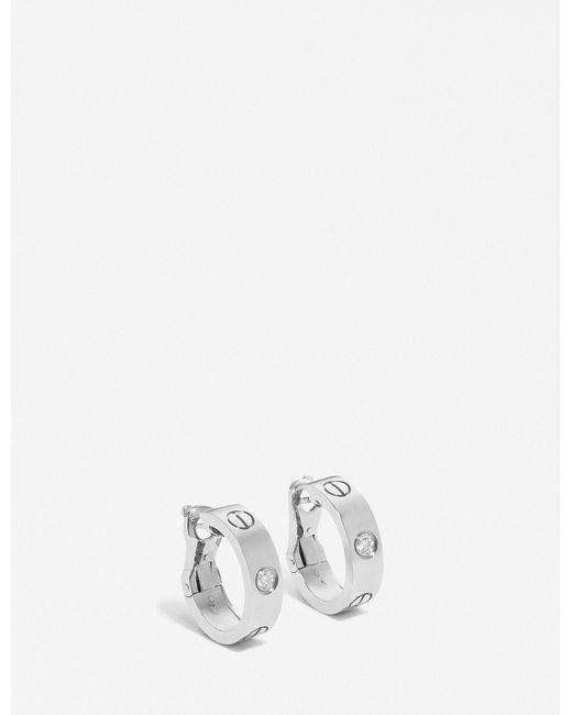 Cartier | Love 18ct White-gold Earrings | Lyst