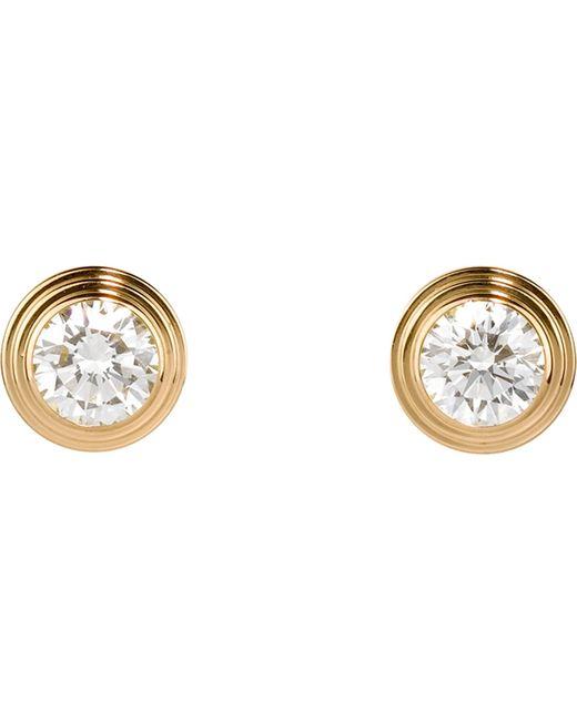 Cartier | Metallic Diamants Légers De 18ct Yellow-gold And Diamond Earrings | Lyst