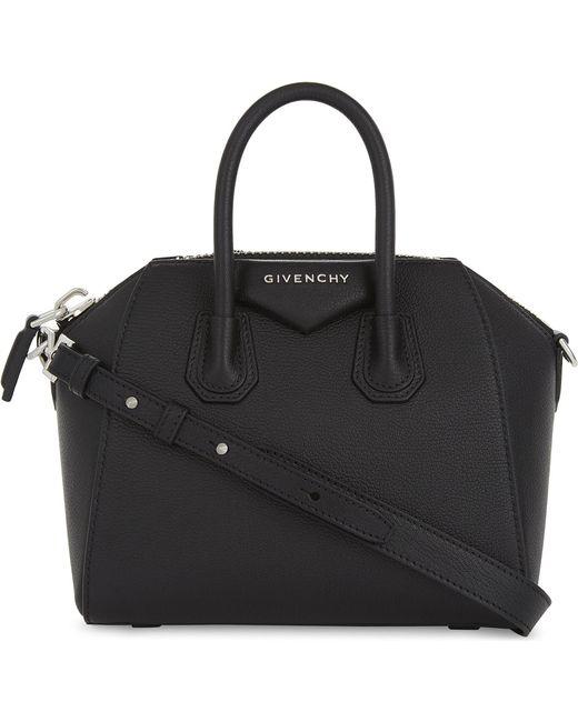 Givenchy | Black Antigona Mini Leather Tote | Lyst