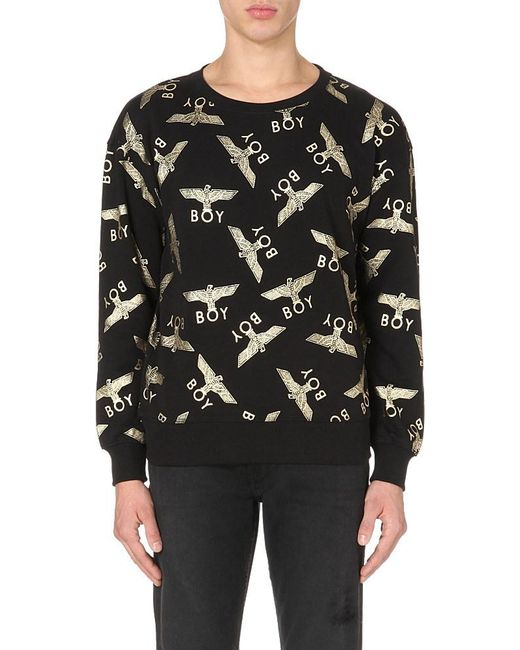 BOY London | Metallic Eagle Repeat Cotton Sweatshirt for Men | Lyst