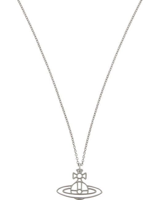 Vivienne Westwood | Metallic Thin Lines Flat Orb Necklace | Lyst