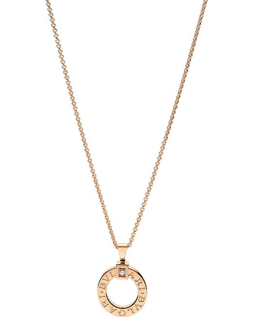 BVLGARI | 18kt Pink-gold And Diamond Necklace | Lyst