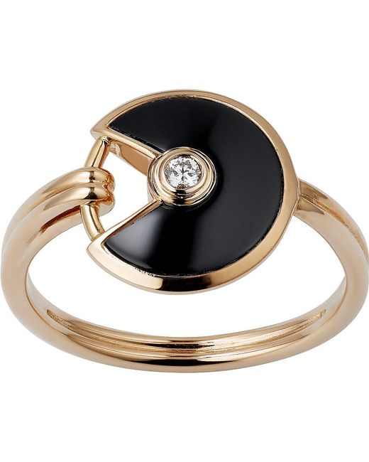 Cartier | Black Amulette De 18ct Pink-gold | Lyst