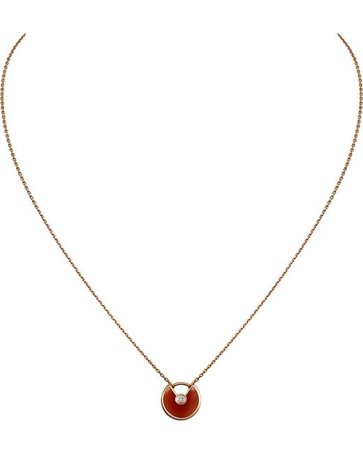 Cartier | Red Amulette De 18ct Pink Gold | Lyst
