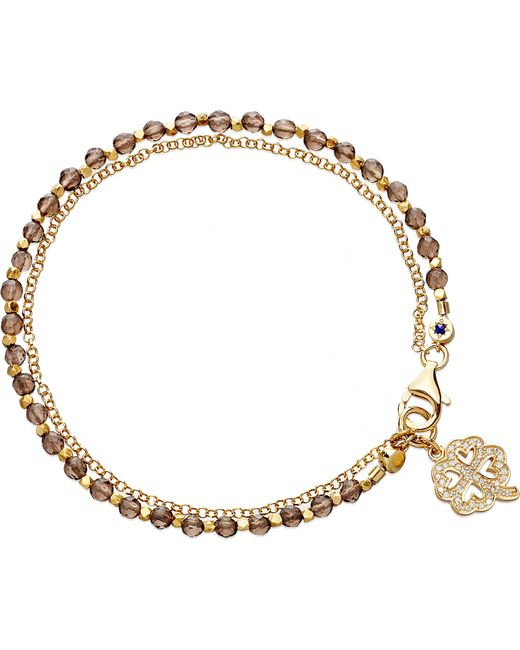 Astley Clarke | Metallic Four Leaf Clover Smoky-quartz Friendship Bracelet | Lyst