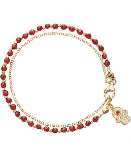 Astley Clarke   Hamsa Red Agate Friendship Bracelet   Lyst