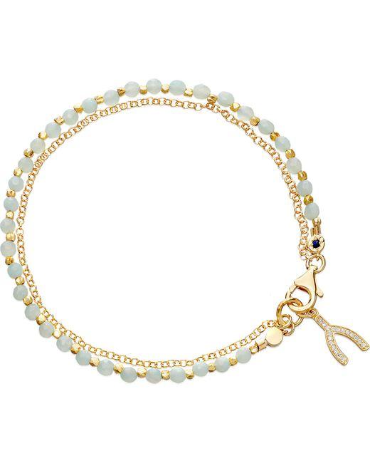 Astley Clarke   Metallic Wishbone Amazonite Friendship Bracelet   Lyst
