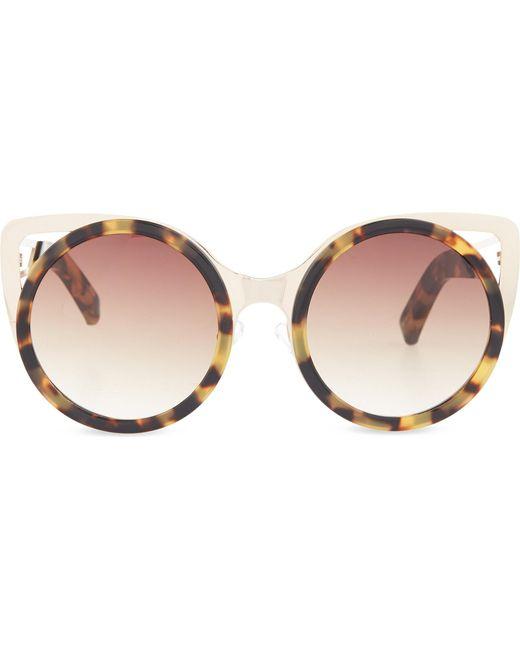 Erdem   Brown Extended Cat-eye Sunglasses   Lyst