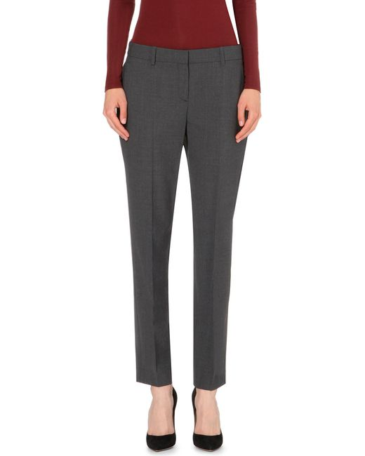 Theory | Gray Testra Tapered Wool-blend Trousers | Lyst