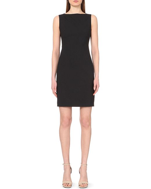 Theory | Black Betty Stretch-wool Shift Dress | Lyst