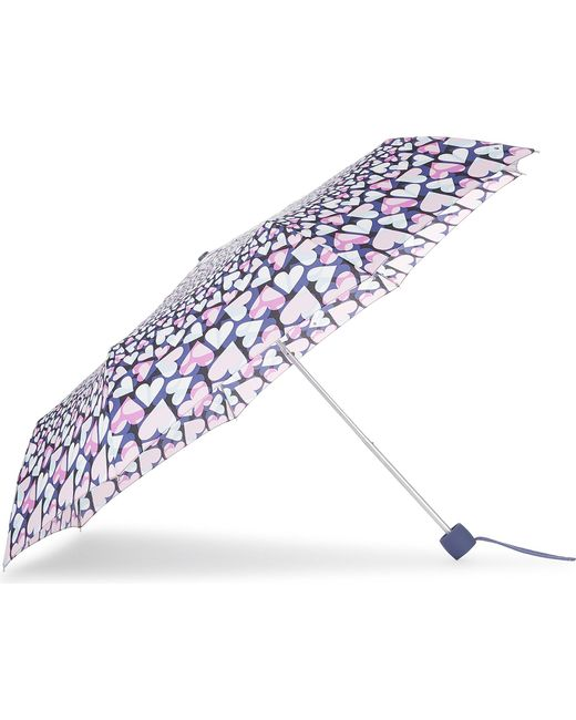 Fulton   Blue Heart Print Umbrella   Lyst