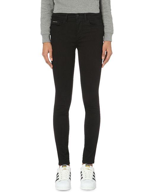 Calvin Klein | Black Skinny High-rise Jeans | Lyst